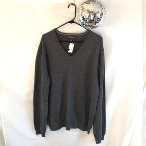 Brooks Brothers V-Neck Merino Wool Sweater NWT